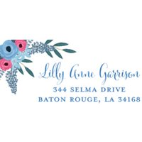 Spring Blooms Personalized Address Label