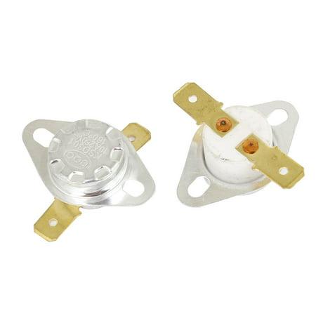 2 x 160 Celsius Degree Normal Closed 250V  10A Ceramic Thermostat KSD301