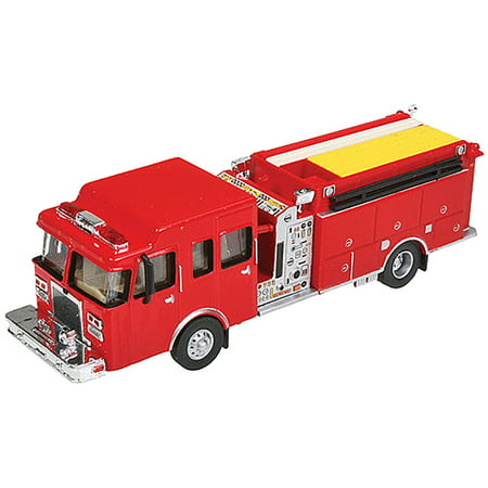 Ho Scale Truck - Walthers HO Scale Heavy-Duty Fire Department Truck/Engine Red Emergency Vehicle