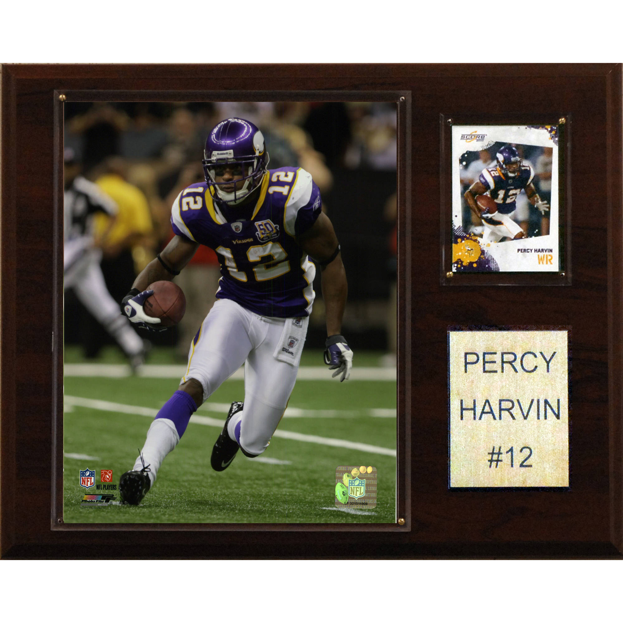 C&I Collectables NFL 12x15 Percy Harvin Minnesota Vikings Player Plaque