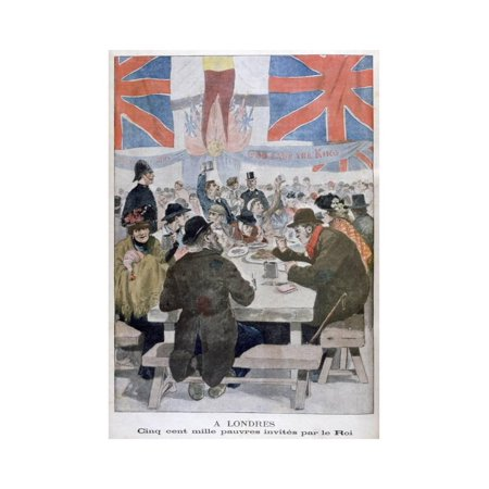 Dinner for the Poor in Celebration of the Coronation of King Edward VII, London, 1902 Print Wall (Edward Vii Issue)