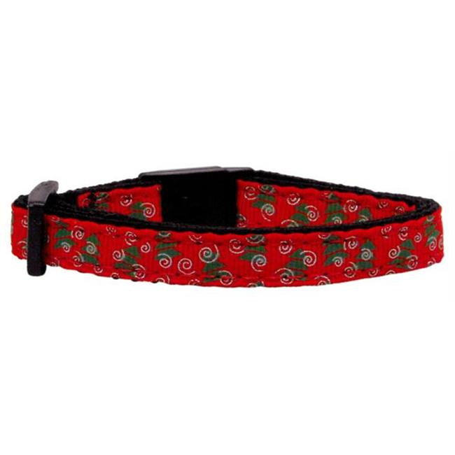 Christmas Trees Nylon and Ribbon Collars . Cat Safety