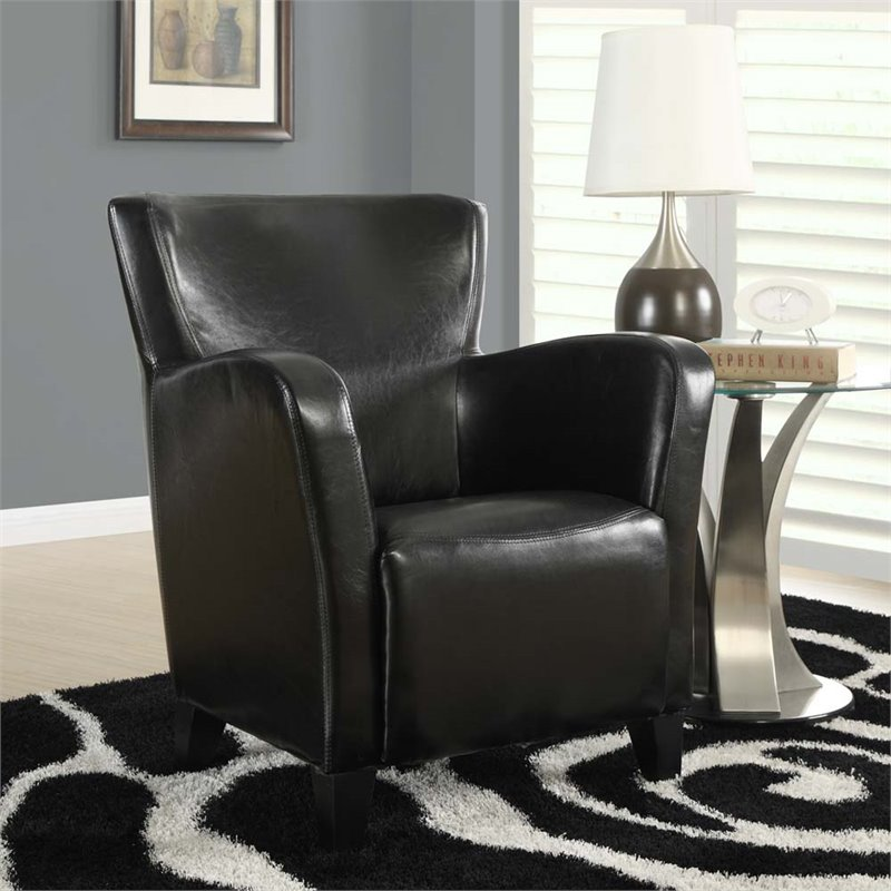 Monarch Specialties Leather-Look Club Chair