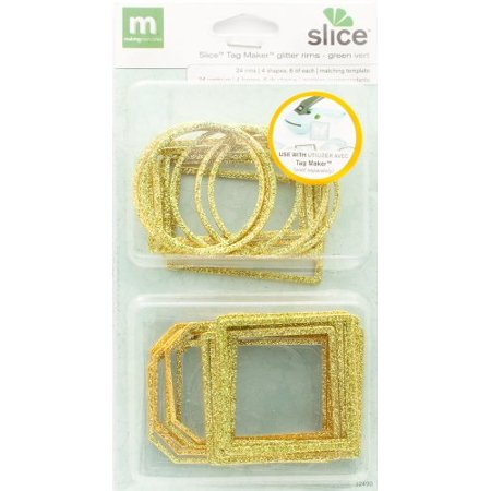 Making Memories Slice Tag Maker Glitter Rim Multipack, Green