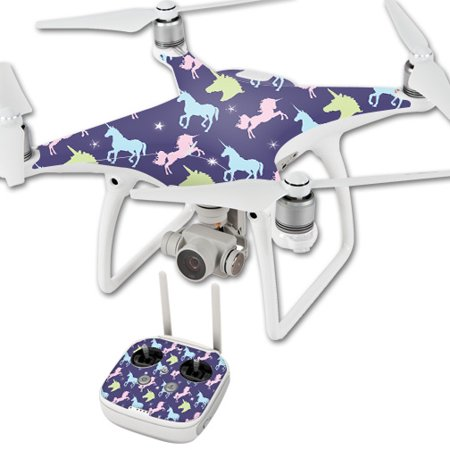 MightySkins Skin Compatible With DJI Phantom 4 Quadcopter Drone – Action Fish Puzzle | Protective, Durable, and Unique Vinyl Decal wrap cover | Easy To Apply, Remove | Made in - Phantom Fish