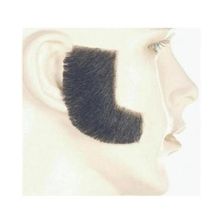 Synthetic Sideburn, Dark Brown Grey 51](Grey Sideburns)