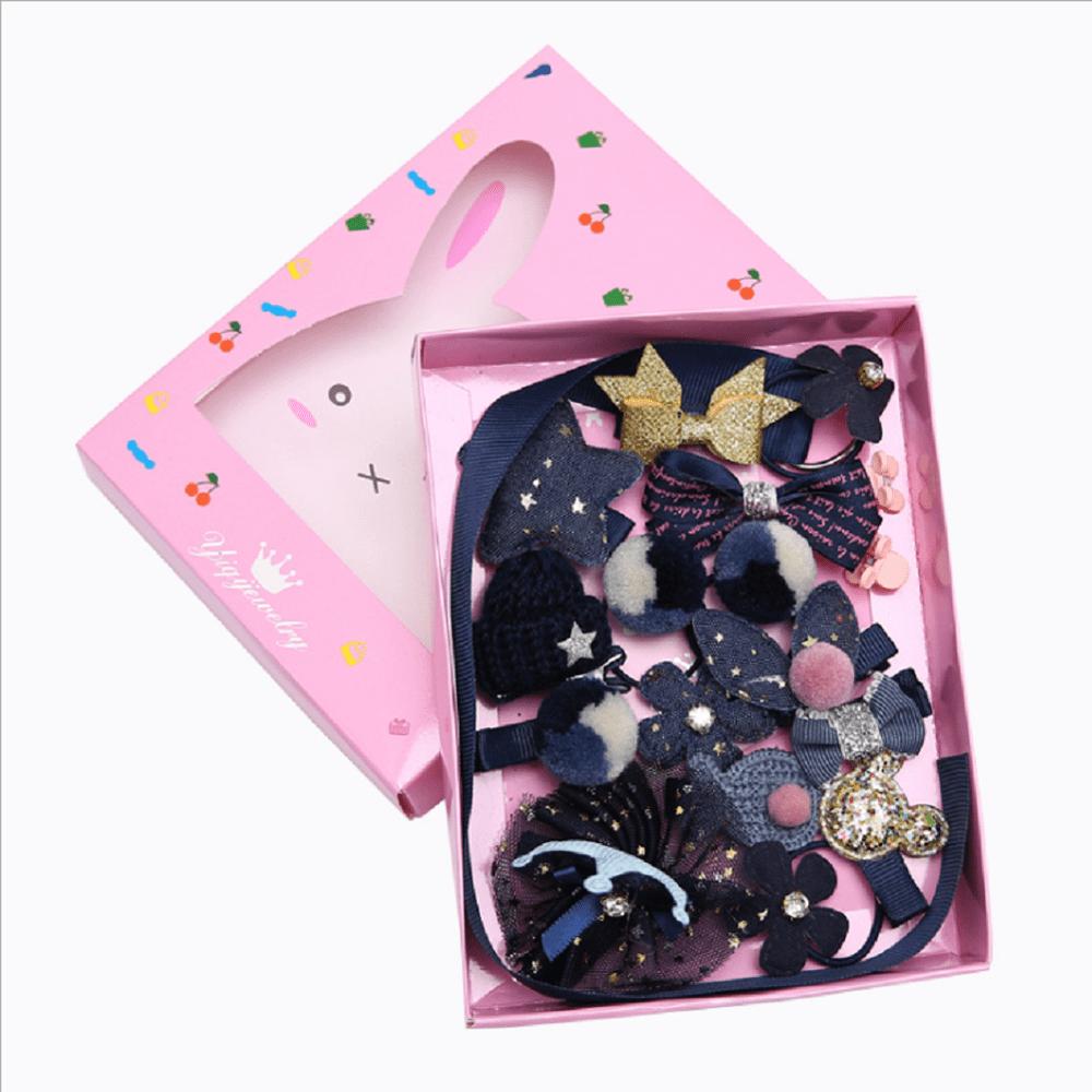 Princess 18Pcs//set Cute Hairpin Baby Girl Hair Clip Bow Flower Barrette Star