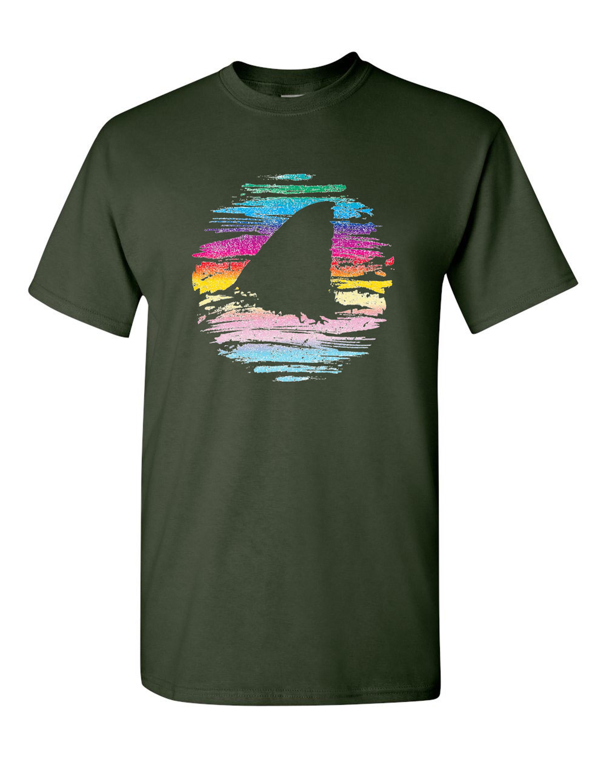 Shark Week BeanePod Artworks Art Funny DT Adult T-Shirt Tee