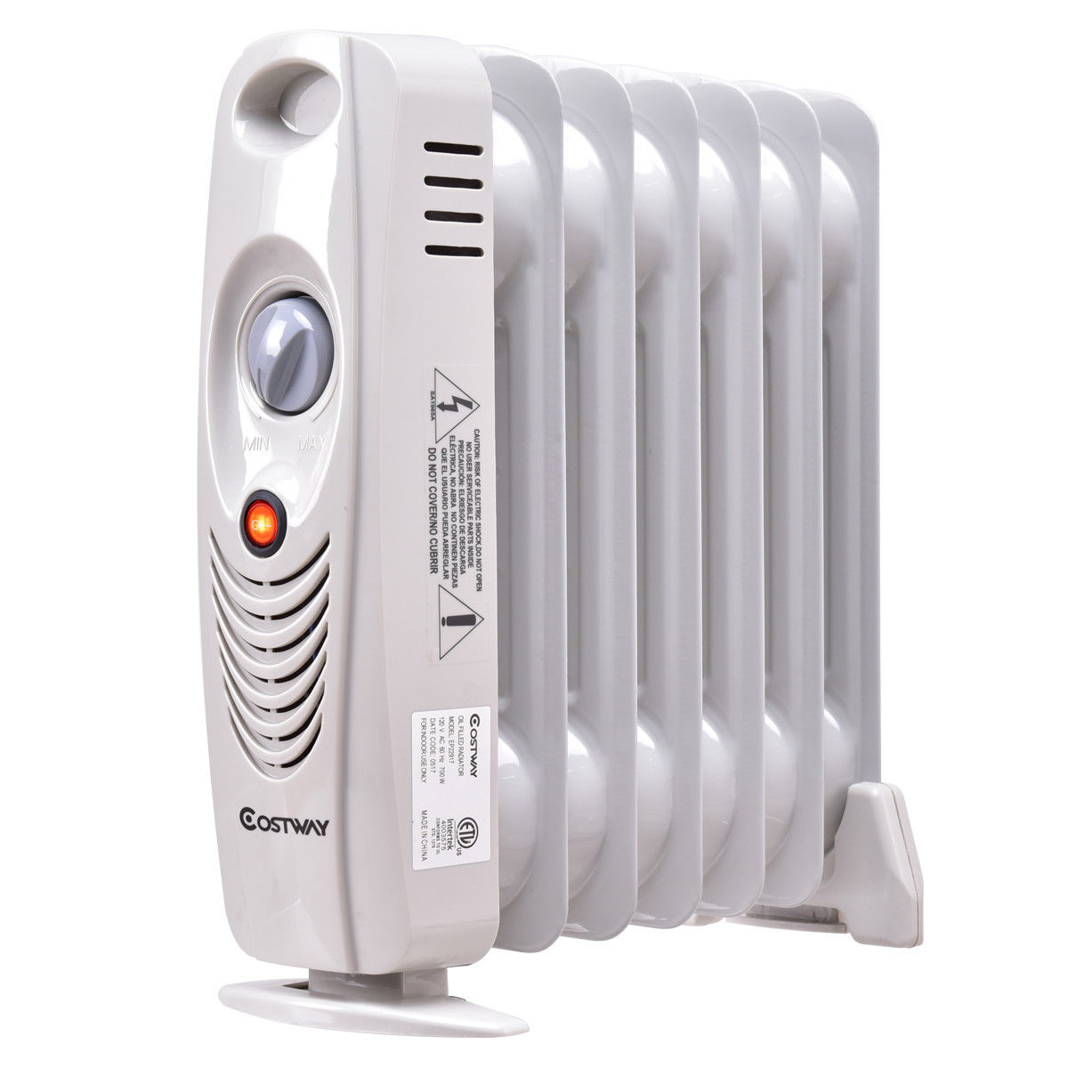 Costway 700W Portable Mini Electric Oil Filled Radiator Heater Safe Room ComforTemp by Costway