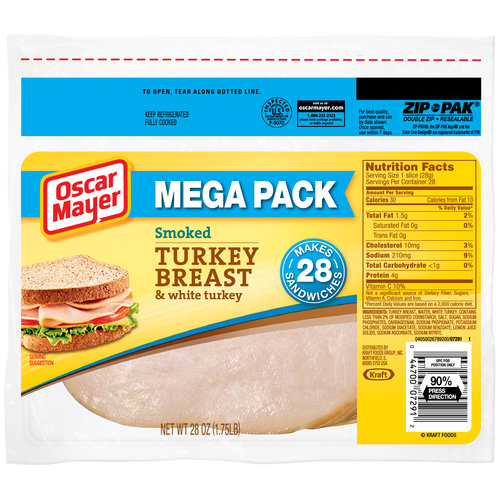 Oscar Mayer Smoked Turkey Breast Cold Cuts, 28 oz