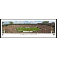 """Green Bay Packers Football 40.25"""" x 13.75"""" Standard Framed Panoramic Print - No Size"""