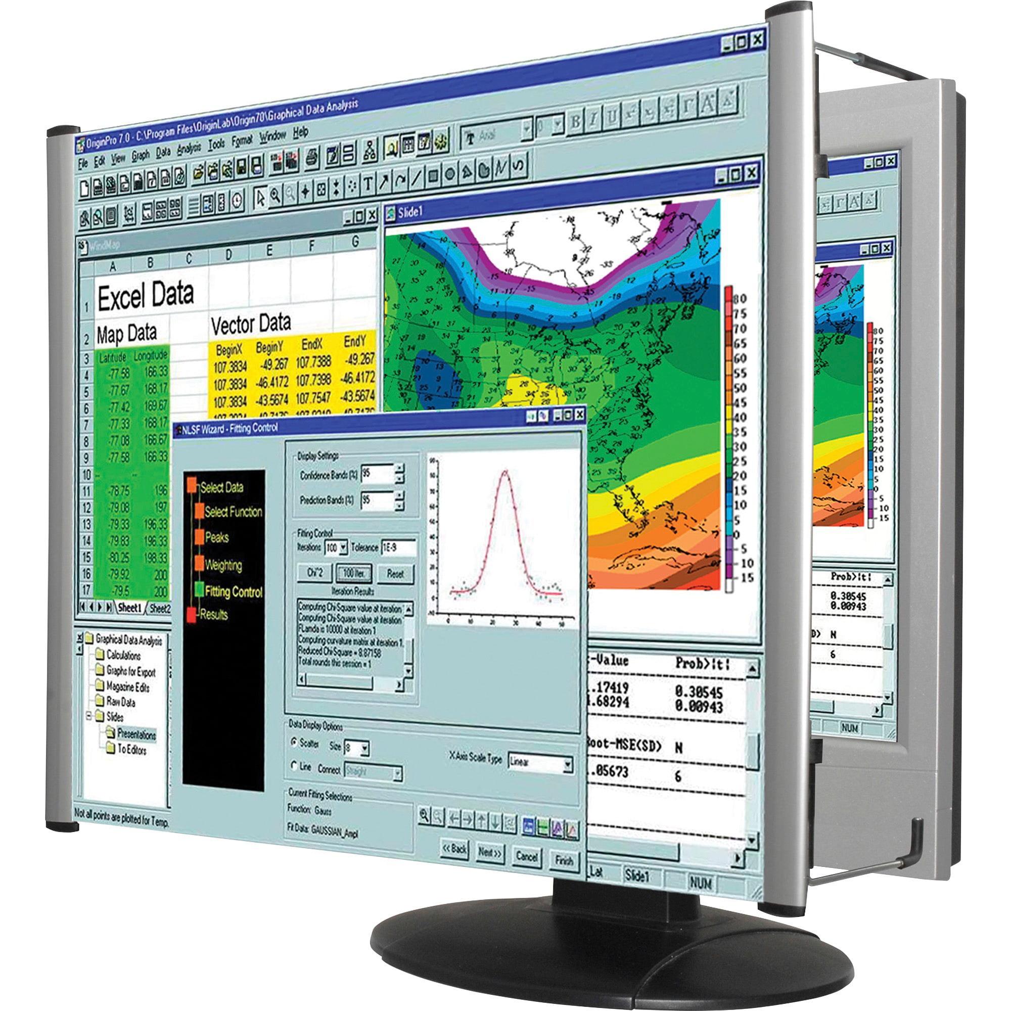 Kantek, KTKMAG22WL, Fresnel Wide-screen Monitor Magnifier Lens, 1 Each, Aluminum
