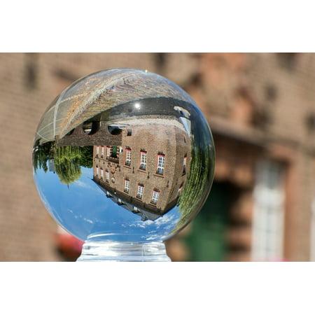 Town Hall Halloween Ball (LAMINATED POSTER Glass Ball Photo Glass Ball Mirroring Town Hall Poster Print 24 x)