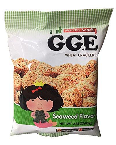 GGE Noodle Snack 2.82 oz per Pack (2 Pack) (Seaweed) by Wei Lih Food