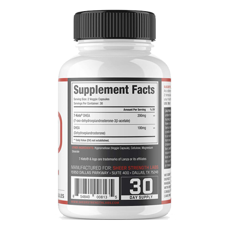Best Sheer Extra Strength 7-Keto DHEA Supplement - Keto Friendly - Enhance Metabolism - 60 capsules deal
