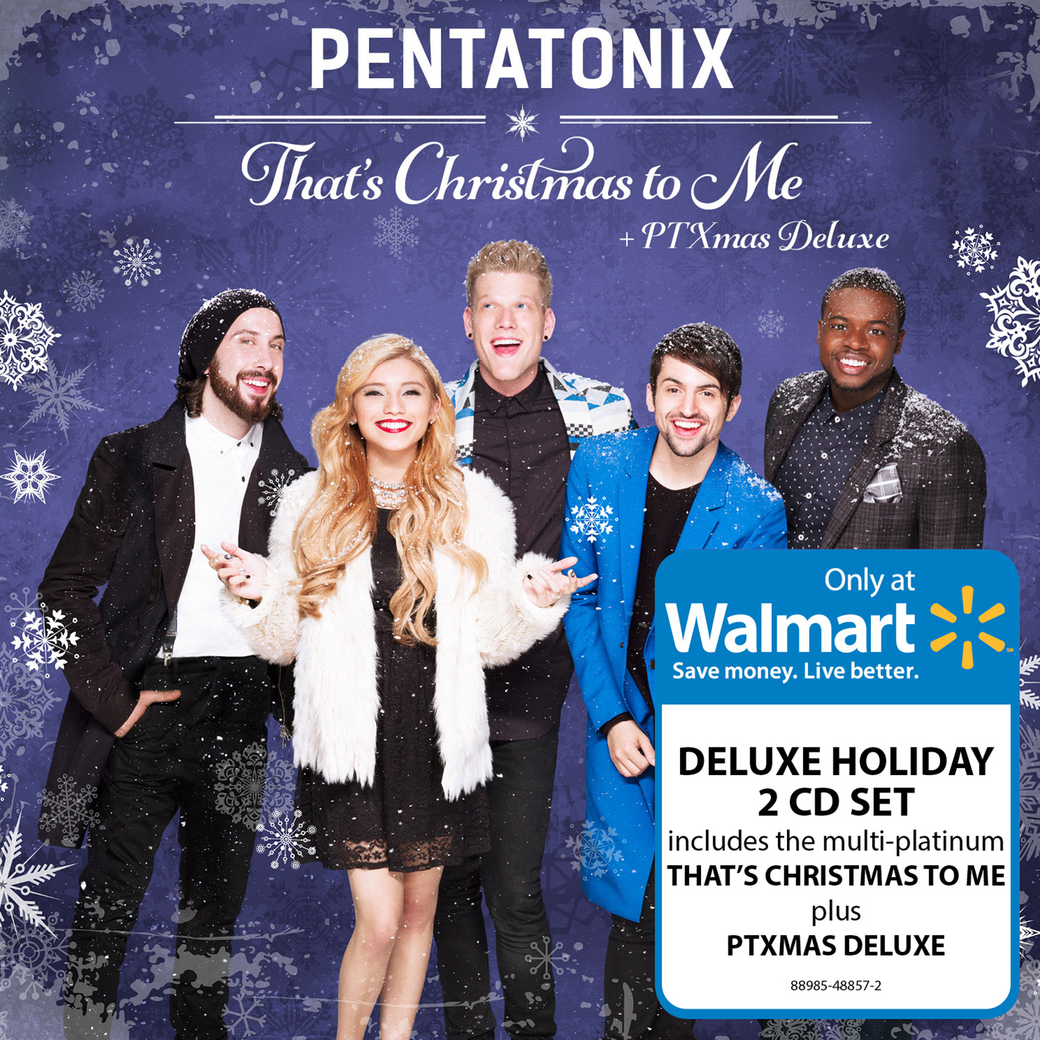 Pentatonix Christmas Deluxe.Pentatonix That S Christmas To Me Ptxmas Deluxe Walmart Exclusive Cd Walmart Com