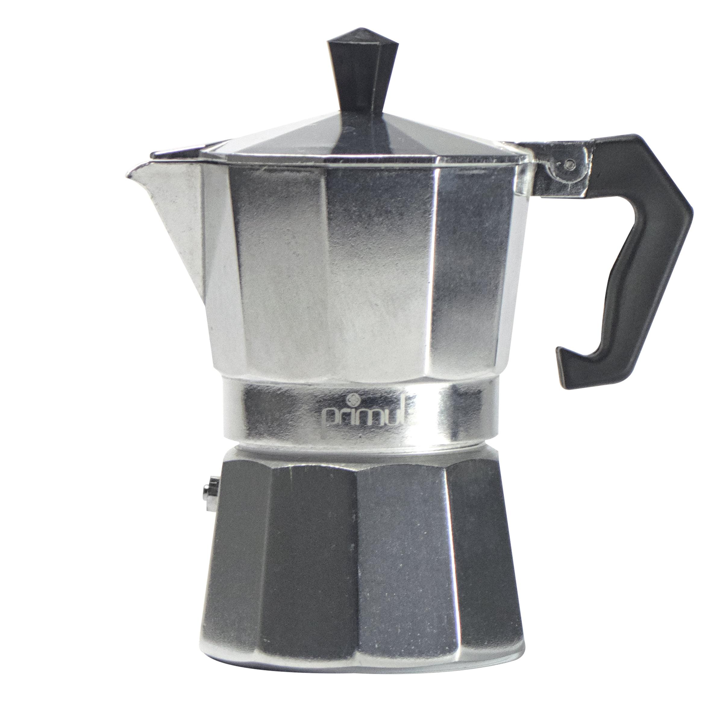 Aluminum 3 Cup Stovetop Espresso Maker - Polished