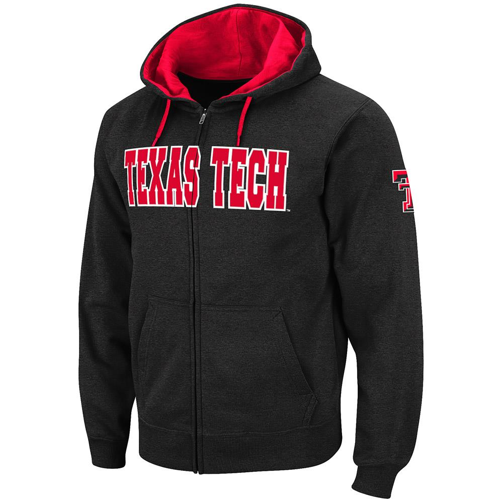 Mens Texas Tech Red Raiders Full Zip Hoodie XL by Colosseum
