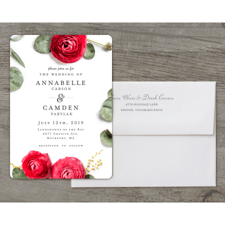 Personalized Wedding Invitations.Personalized Wedding Invitation Real Love 5 X 7 Flat Deluxe