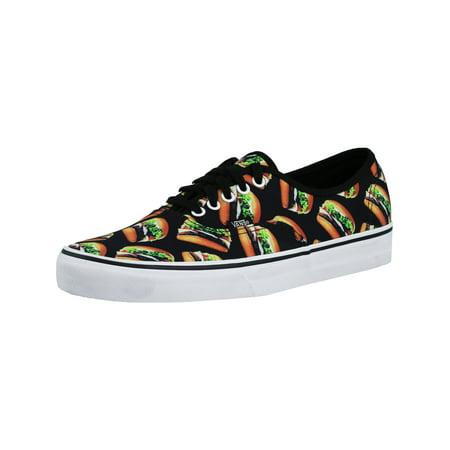 f7842a6cc9 Vans - Vans Authentic Black Hamburgers Ankle-High Canvas Skateboarding Shoe  - 12M   10.5M - Walmart.com