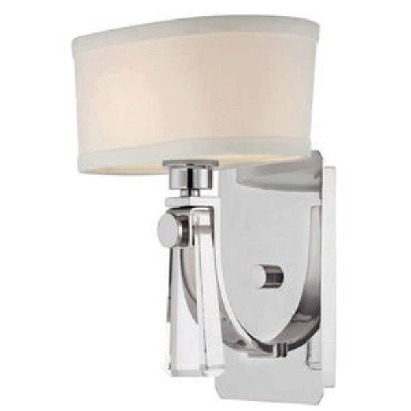 "Quoizel Uptown Bowery 9"" Wall Sconce in Imperial Silver"