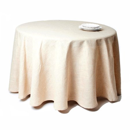 Natural Beige, Classic Tuscany Design 108 Inch Round Tablecloth