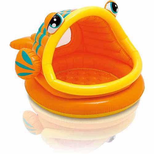 Intex Inflatable Lazy Fish Shade Baby Pool