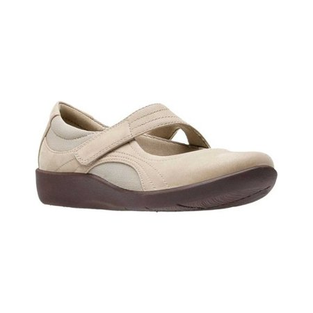 Cloud Steppers by Clarks SILLIAN BELLA Womens Sand Mary Jane Shoes