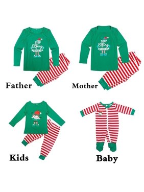 New Family Matching Christmas Pajamas Set Women Baby Kids Sleepwear Nightwear