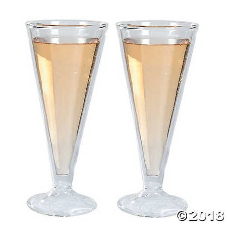 Double Wall Champagne Flutes -