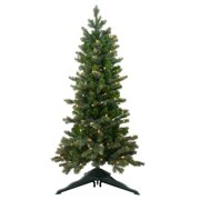 Northlight 4 ft. Medium Savannah Spruce Slim Pre Lit Christmas Tree