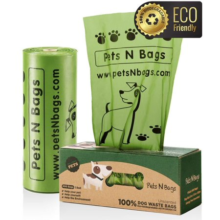 Poop Bags, Environment Friendly Pets N Bags Dog Waste Bags, Refill Rolls