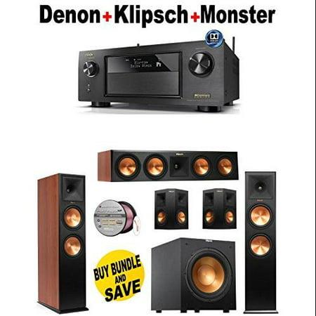 Denon-AVRX4200W + 2 Klipsch-RP260FCH + Klipsch-RP440CCH + 2 Klipsch-RP250SBK + Klipsch-R10SW + Monster... by