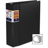 QuickFit, STW29051, Commercial D-Ring Binder, 1 Each, Black
