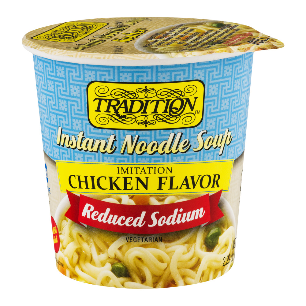 Tradition Reduced Sodium Instant Noodle Soup, No MSG Chicken flavor, 2. 29 oz, 12 pack