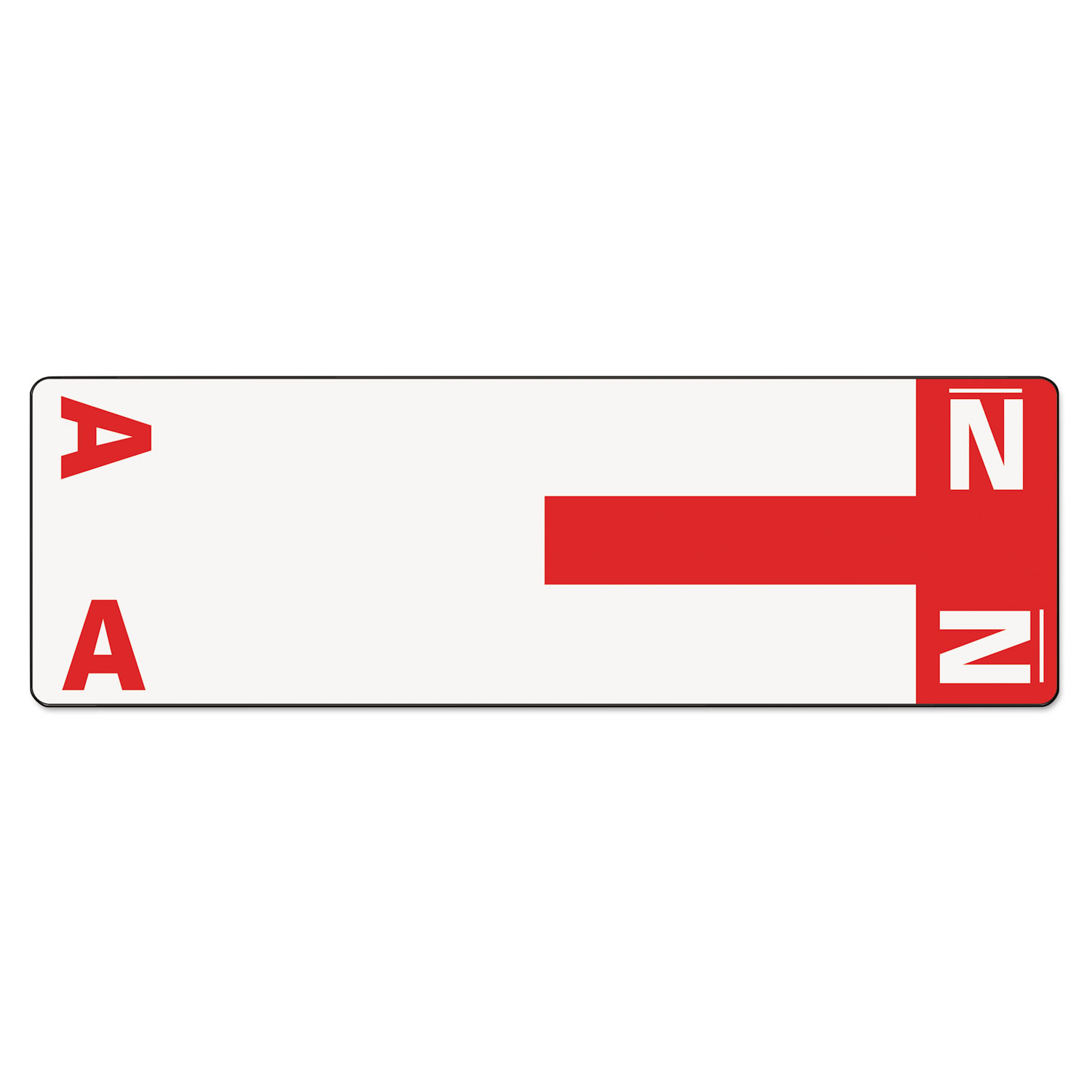 Alpha-Z Color-Coded First Letter Name Labels, A & N, Red, 100/Pack