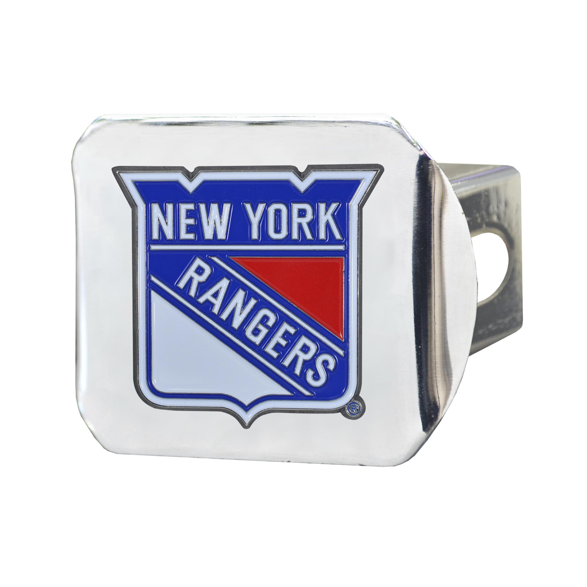 "New York Rangers Color Hitch Chrome 3.4""x4"""