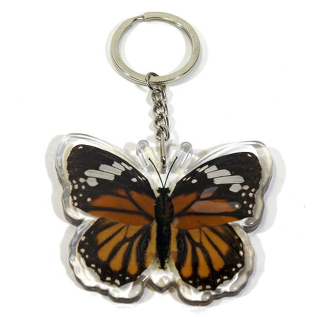 Ed Speldy East Company BTK110 Real Bug Common Tiger Butterfly Key Chain