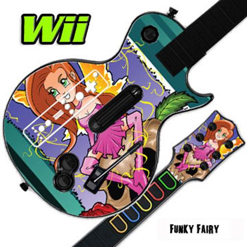 Mightyskins Skin Decal Cover for GUITAR HERO 3 III Nintendo Wii Les Paul - Dragon Breath