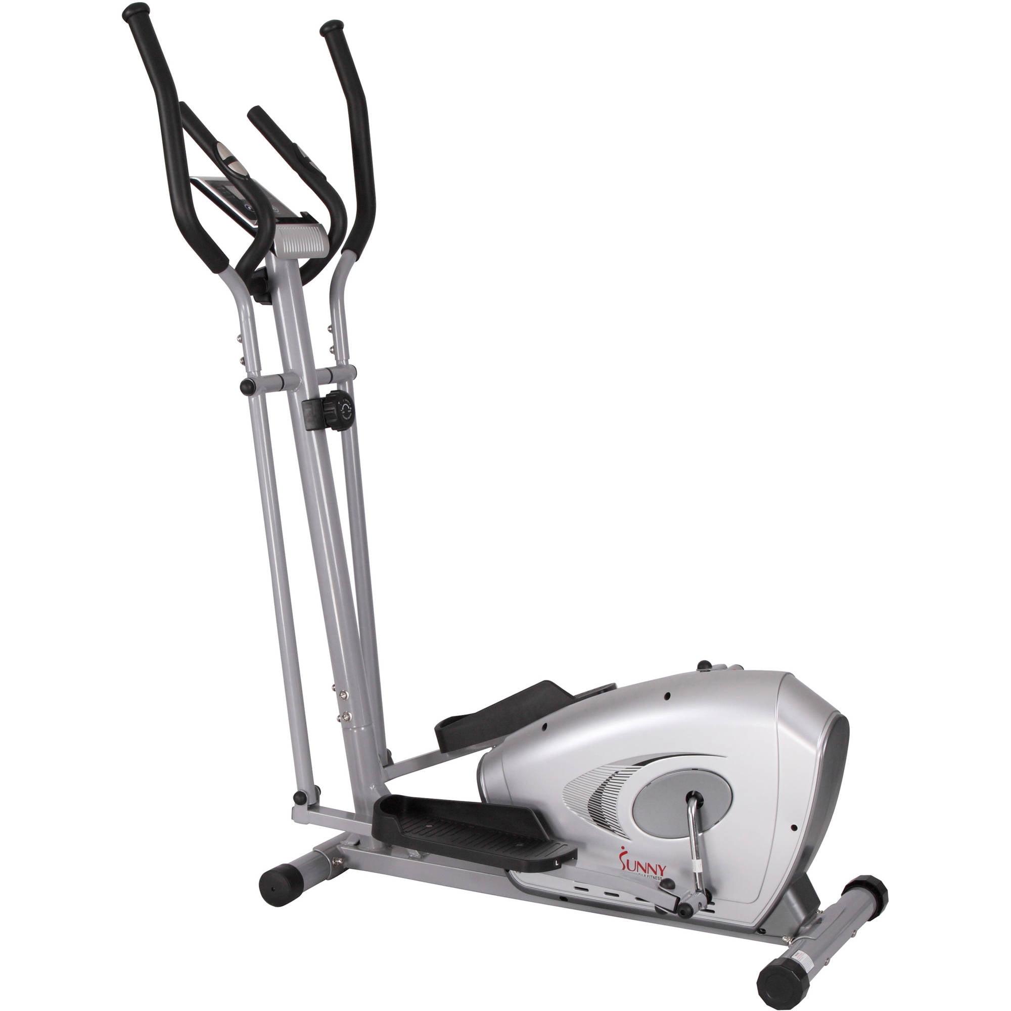 Sunny Health & Fitness SF-E3607 Magnetic Elliptical Bike Elliptical Machine w/ LCD Monitor