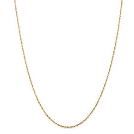 14kt Yellow Gold 1.5mm Link Rope Chain Necklace 18 Inch Pendant Charm Handmade Fine Jewelry Ideal Gifts For Women Gift Set From Heart