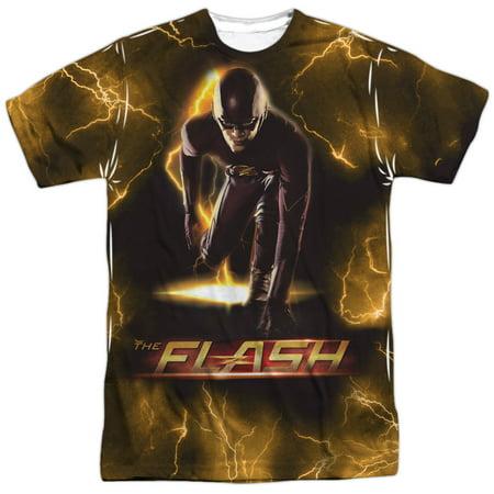 The Flash Bolt  Front Back Print  Mens Sublimation Shirt