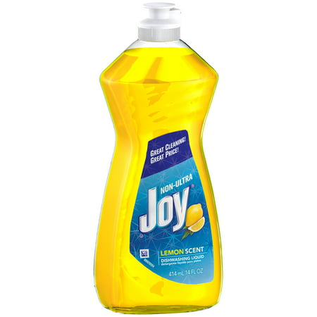 Joy Non-Ultra Dishwashing Liquid, Lemon, 14 fl oz