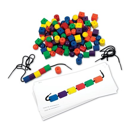Learning Resources Beads and Pattern Card Set, Ages 4+](Learning Resources Inc)