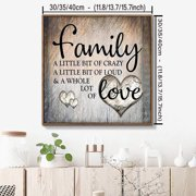 """NK HOME """"Family Lot Of Love"""" 5D DIY Diamond Painting Kit Rhinestone Embroidery Cross Stitch Arts Craft for  Home Wall Decor"""