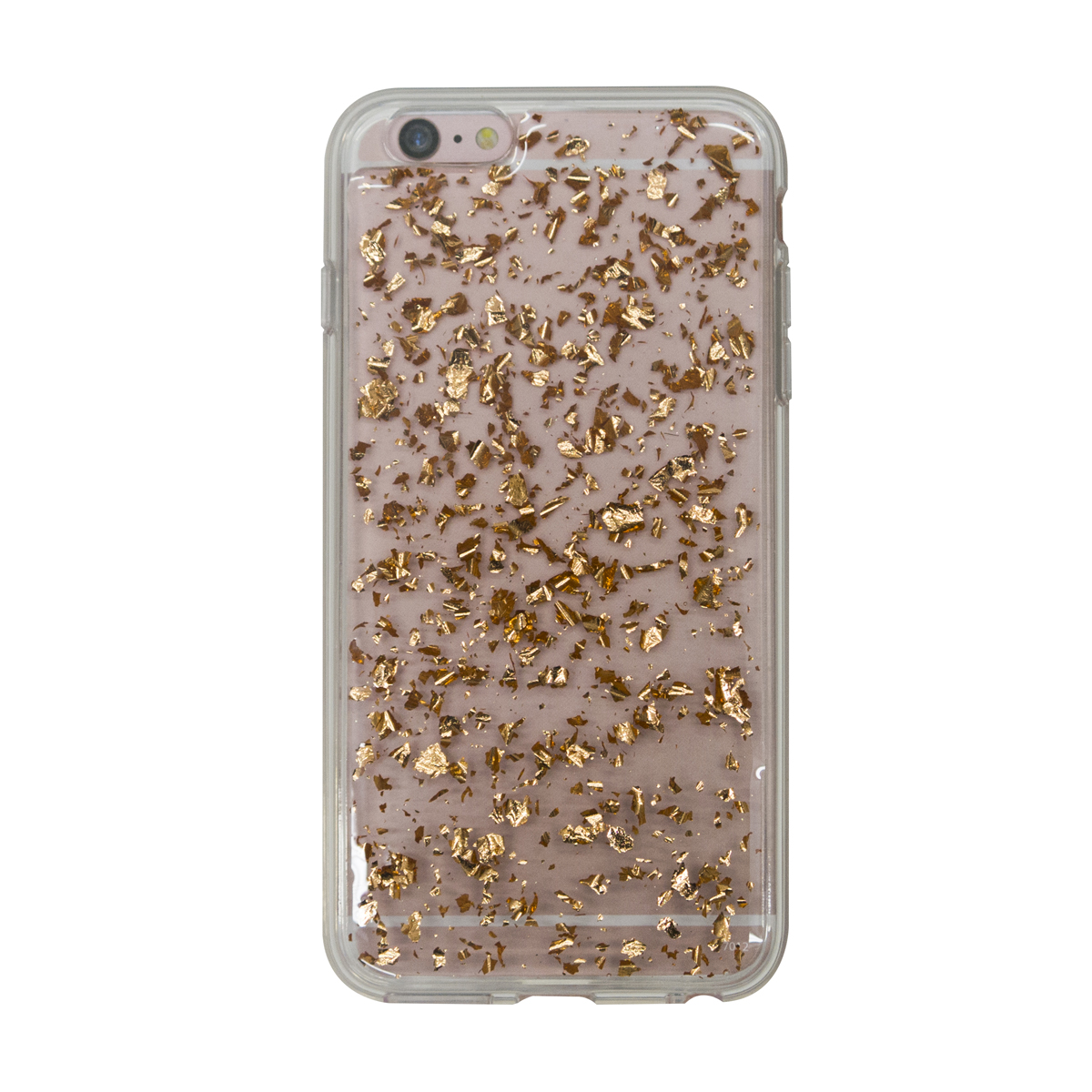 buy popular df6bc 1ec85 Onn Lightweight Slim Clear Case For iPhone 7 Plus/8 Plus, Rose Gold Glitter