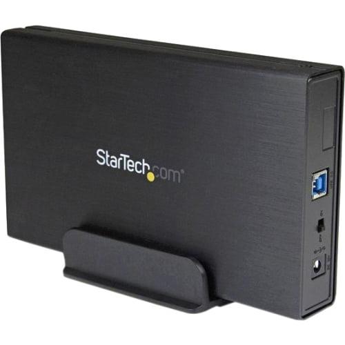 "StarTech 3.5"" SATA III to USB 3.0 Hard Drive Enclosure with UASP, Black"