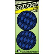 HY-KO PROD CO Safety Reflector, Nail-On, Blue Plastic, 3.25-In., 2-Pk. CDRF-5B