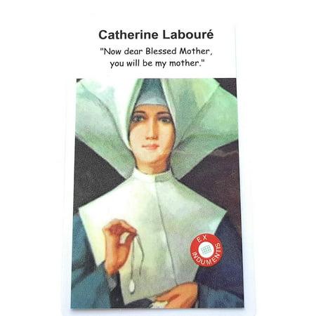 Relic Card 3rd Class of Saint Catherine Labouré Patron of Miraculous Medal, infirmed People, The Elderly Santa Catalina Labouré patrona Medalla milagrosa Hábito de las Hijas de la Carid - Saints Birthday