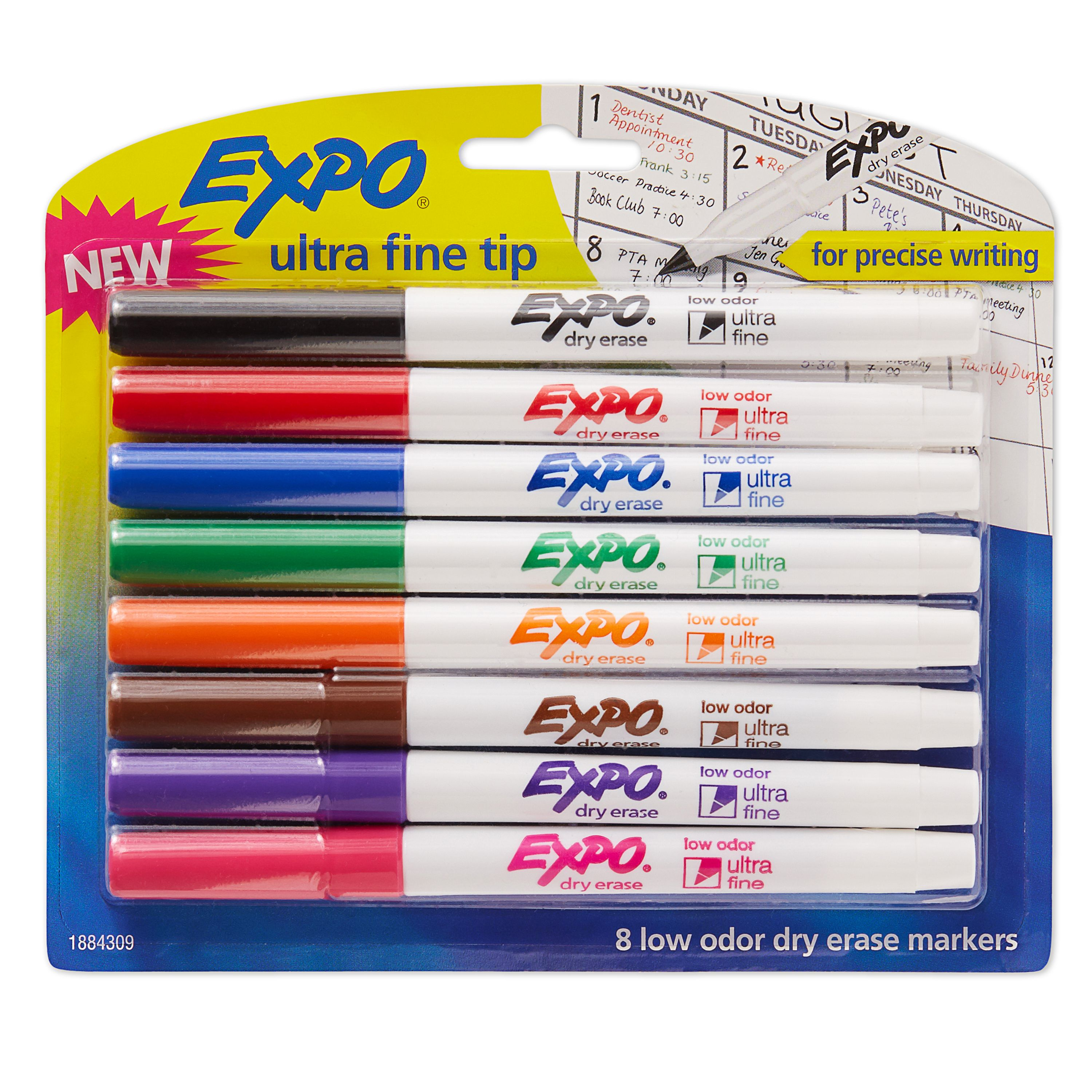 Best Quality 5 x Assorted colours White Board marker Pens write on wipe off